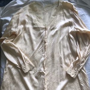Vintage pure silk night shirt